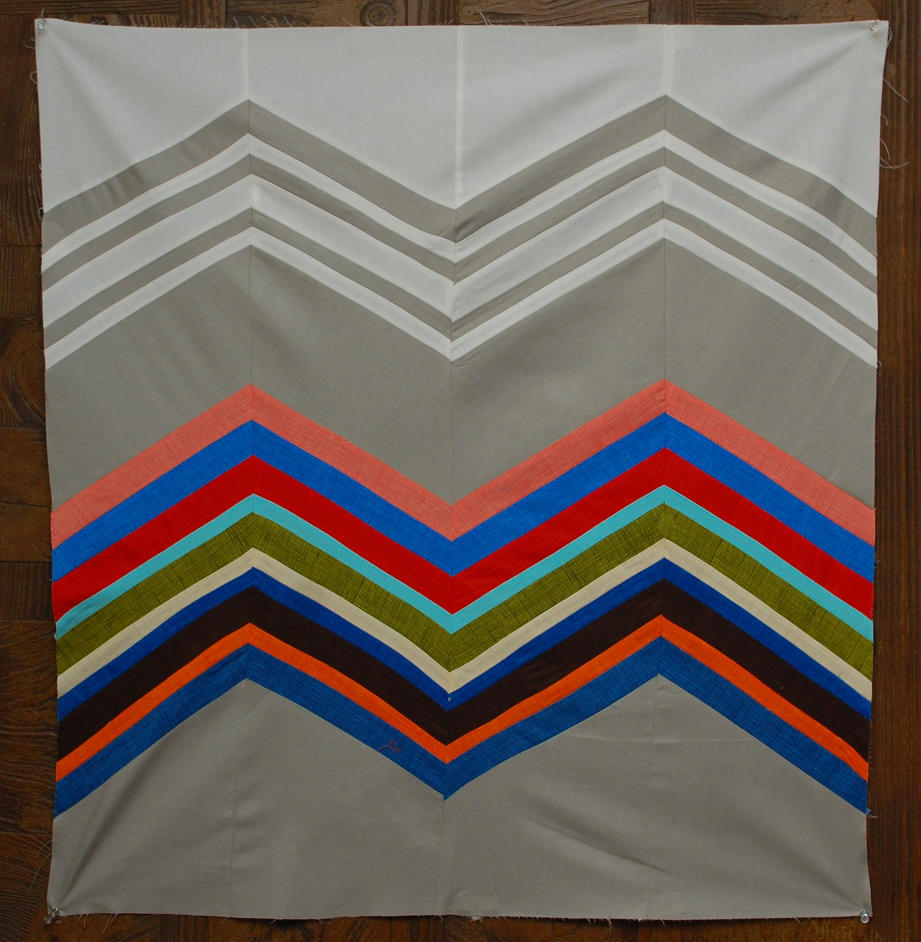 """days – week of inspiration – missoni inspired quilt tutorial  - finished quilt size """" x """""""