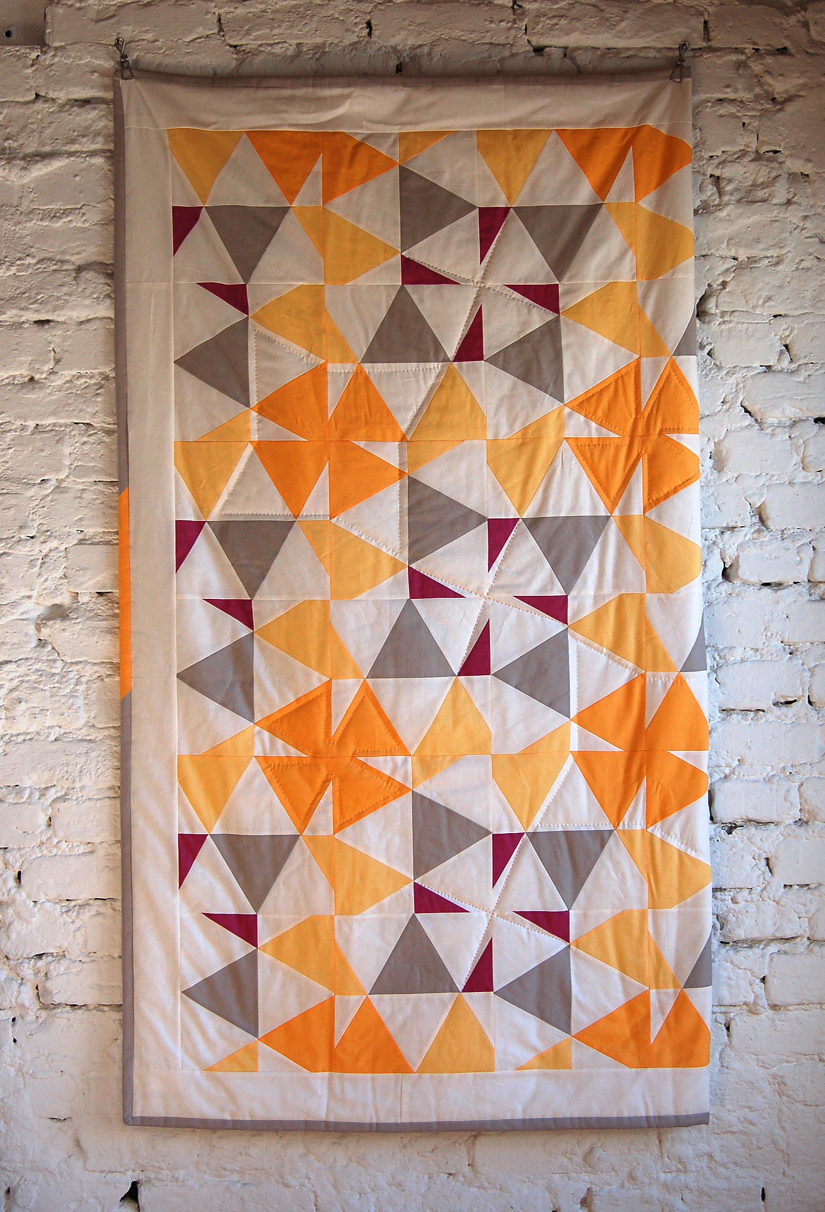 Edredon English.100 Days Week Of Solids Featured Quilt 1 The Modern Quilt Guild