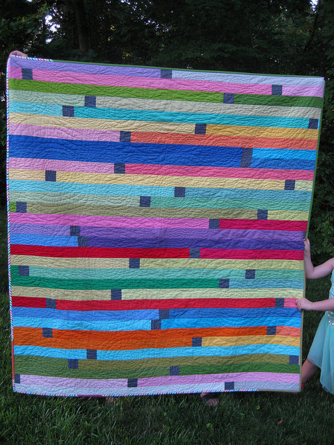 Quilt Featuring Bold Striped Pattern