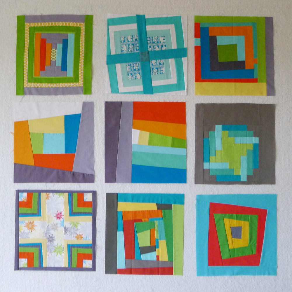 Quiltcon block challenge log cabins the modern quilt guild for Modern house quilts