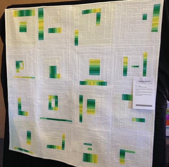 Gradient by Alys Gagnon. This quilt was made for a Canberra MQG challenge and was the first quilt Alys ever made