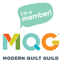 I'm a member of the Modern Quilt Guild