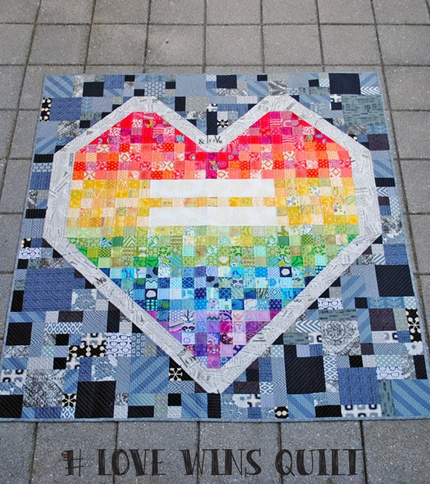 Love Wins quilt by Sherri Noel of Rebecca Mae Designs